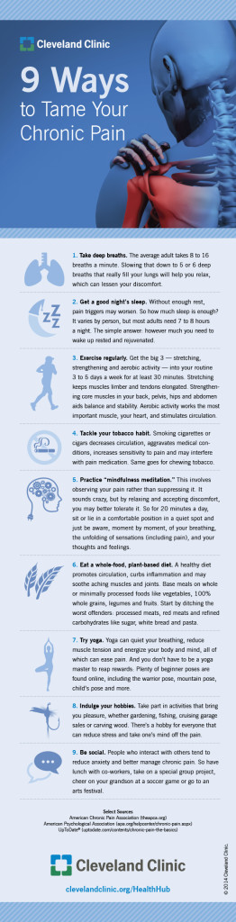 Inforgraphic - 9 Ways to Tame Your Chronic Pain | The Advocacy For Consumer Rights